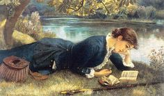 Painting by Arthur Hughes, The Compleat Angler.