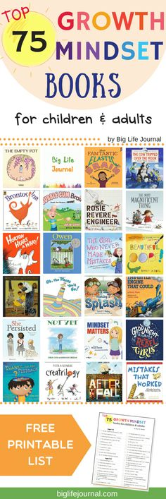 Top 75 Growth Mindset Books For Children And Adults – Big Life Journal