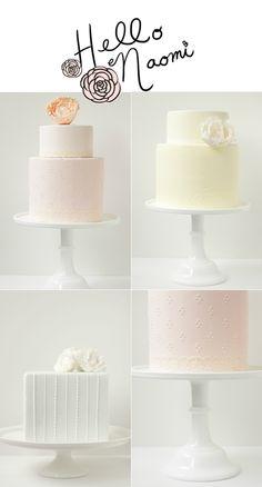 Beautiful cakes from Hello Naomi.