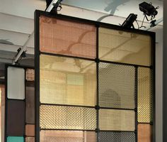 Metal and glass partition / screen / room divider. Partition Screen, Partition Design, Partition Walls, Partition Ideas, Screen Design, Wall Design, House Design, Design Hotel, Metal Screen
