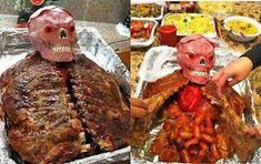 Halloween dinner - Adam would love this for his birthday dinner (loves The Walking Dead)