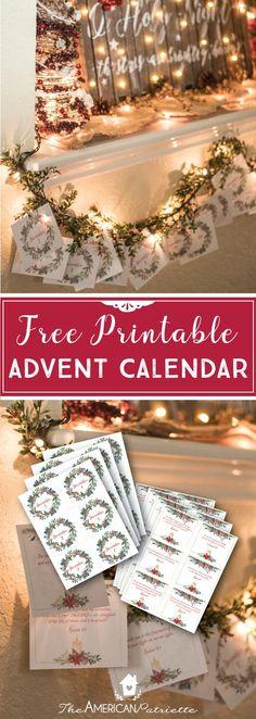Free printable advent calendar with christmas bible verses free printable 2017 advent calendar fandeluxe Gallery