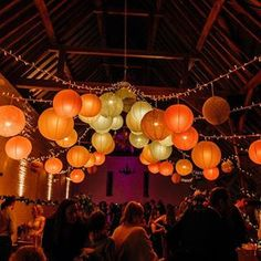 A huge shout out to the amazing team at for these gorgeous hanging lanterns that totally transformed the space at // please comment below and let me know what's your favourite colour? Wedding Blog, Wedding Styles, Wedding Venues, Wedding Photos, Hanging Lanterns, Paper Lanterns, Ceiling Decor, Wedding Moments, Shout Out