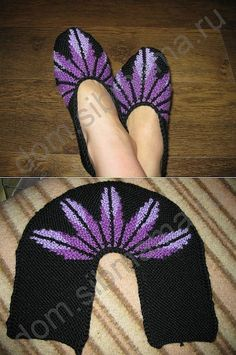 Sledkov on Two spokes . com - Basispatroon This Pin was discovered by Jaa Crochet Baby Socks, Crochet Shoes, Knitted Booties, Knitted Slippers, Knitting Socks, Free Knitting, Tunisian Crochet, Knit Crochet, Baby Knitting Patterns