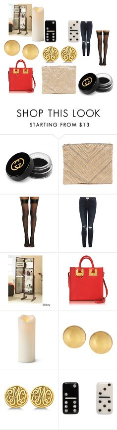 """""""Posts"""" by efrat-kazoum ❤ liked on Polyvore featuring beauty, Gucci, LULUS, Frame, Sophie Hulme, Improvements, Mémoire, Allurez and Marc Jacobs"""