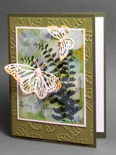 Nature Style Bokeh by AbbysGrammy - Cards and Paper Crafts at Splitcoaststampers  (Pin#1: Background: Bokeh.  Pin+: Butterflies...).