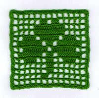 Shamrock Coaster--free crochet pattern