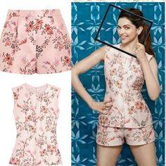"@deepikapadukone in @stellamccartney top and shorts for ""Asian Paints "". #deepika #deepikapadukone #deepikacloset"