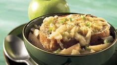 Soupe à l'oignon et aux pommes gratinée | Recettes IGA