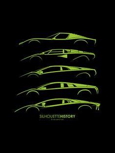 Lamborghini V12 Silhouettehistory Digital Art  - for Ethan