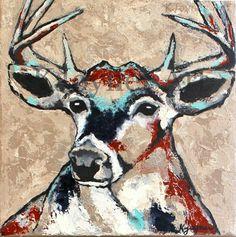 Buck Painting by Kendra Joyner