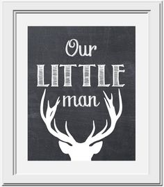 Our Little Man - Deer Silhouette - PRINTABLE Nursery Art on Etsy, $5.00