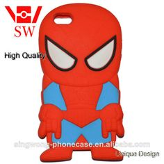 spider man Protective Soft Silicone Cell Phone Case For iPhone spider man cartoon phone case