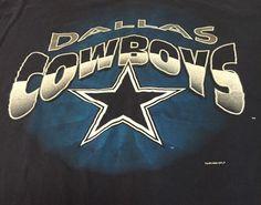 Vintage Dallas Cowboys Blue X-Large Short Sleeve Tee T-Shirt XL E1 #DallasCowboys