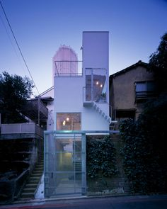 Carving Out Your Own Space in Central Tokyo: multilevel spaces without walls or doors built on 320 sq ft by Miurashin Architects.
