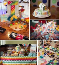 Pantone Art Birthday Party with SO MANY CUTE IDEAS via Kara's Party Ideas   Kara'sPartyIdeas.com #Art #Party #Ideas #Supplies (1)
