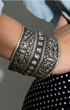 The Hill Tribe Silver Spiked Bracelet by Torchlight $88.00
