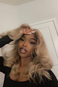 Baddie Hairstyles, Black Girls Hairstyles, Braided Hairstyles, Colored Weave Hairstyles, Girls Natural Hairstyles, Winter Hairstyles, Straight Hairstyles, Curly Hair Styles, Natural Hair Styles