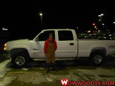 """Cathy and Robert Peniston from Chillicothe, Missouri purchased this 2003 Chevrolet Silverado and wrote, """"I came to Woody's because they had what I wanted. Cory Huffmon was very helpful and would do business with him anytime."""" To view similar vehicles and more, go to www.wowwoodys.com today!"""
