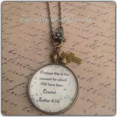 Bible Verse Necklace, Esther 4:14, Scripture Necklace, Perhaps This Is The Moment, Bible Verse Jewelry, Scripture Jewelry, Christian Jewelry