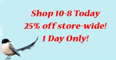 Four more days until Spring! Click below for today's flash sale deal!!!