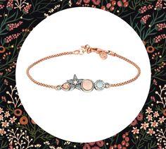 4ccd84b9aeeb  Pulsera de  plata con baño de  oro rosa y  gemas.