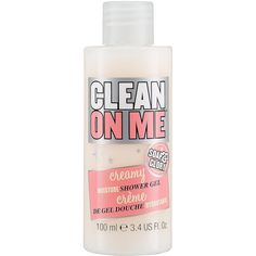 Soap & Glory Clean On Me™ Creamy Moisture Shower Gel (98 MXN) ❤ liked on Polyvore featuring beauty products, bath & body products and body cleansers