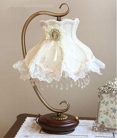 $103.28 deco table lamp bedroom lamp table lamps Korea lace lamp -ZZKKO