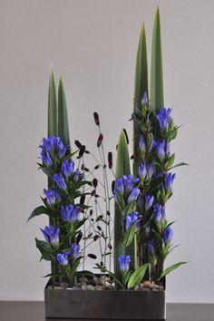 Beautiful blue floral arrangement.