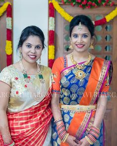 Image may contain: 3 people, people standing Indian Wedding Jewelry, South Indian Jewellery, Indian Bridal, Gold Jewellery, India Jewelry, Latest Jewellery, Jewelery, Indian Jewellery Design, Jewellery Designs