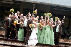 large wedding party shot - super fun group:)!