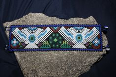 Huicholes 2 doble águila grande Peyote abalorios pulsera EEE