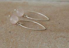 Lange  Ohrringe Rosenquarz 925 Silber Pur! Drop Earrings, Etsy, Vintage, Jewelry, Fashion, Silver, Schmuck, Moda, Jewlery