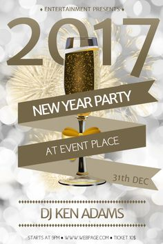 custom new year eve party poster template promotional flyers party poster party flyer