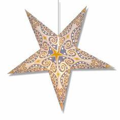 Yellow Nautilus 5 Point Paper Star Lantern