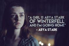 "Night's King on Twitter: """"A girl is Arya Stark of Winterfell and I'm going home"" - Arya Stark #GameofThrones #GoTAtlantic https://t.co/Xsv1xprlhN"""