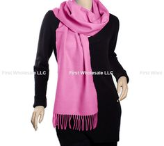 Cashmere Feel Scarf Z19-20 Color: Hot Pink