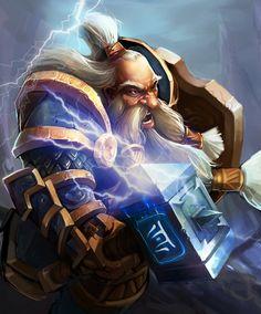 The Dwarf Warrior  by ~robekka
