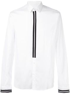 Shop Les Hommes stripe trim shirt in Elite from the world's best independent boutiques at farfetch.com. Shop 400 boutiques at one address.