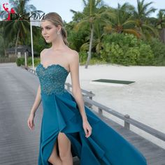 2016 New Arrival Tarik Ediz Long Prom Dresses Sweetheart Lace Satin Sexy High Slit Formal Prom Gowns for Teens