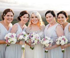 Long Grey Bridesmaid Dresses