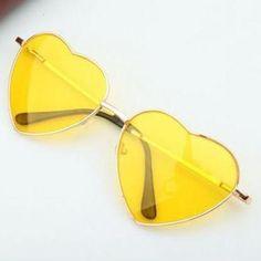 Heart-shaped yellow Valenti..