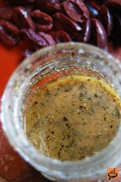 Greek dressing recipe: I didn't have any red wine vinegar on hand and a site recommended using cider vinegar. Maybe that is what made it taste more like a sweet italian dressing. Either way it was really, really good!!