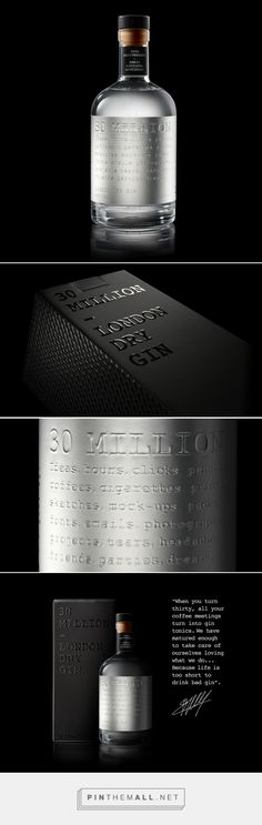 """""""When you turn 30, all your coffee meetings turn into gin tonics..."""" - 30 Million #packaging #design by ESTUDI ENRIC AGUILERA ASOCIADOS (Spain) - http://www.packagingoftheworld.com/2016/07/30-million.html"""