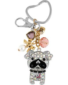 CRYSTAL DOG KEYCHAIN MULTI accessories misc. gifts no sub class
