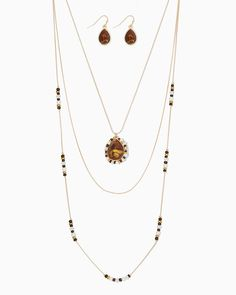 charming charlie | Stasi Layered Necklace Set  #charmingcharlie
