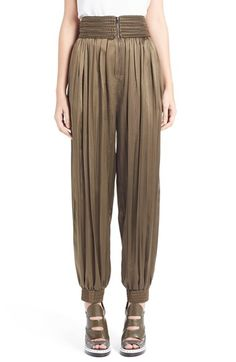 Fendi Passementerie Detail Stretch Satin Track Pants available at #Nordstrom