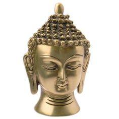 Amazon.com: Head Buddha Statue Sculpture Metal Brass Hinduism Buddhism Religion 4 Inches: ShalinIndia