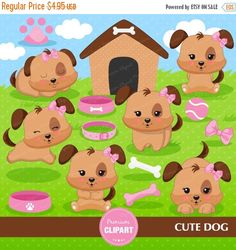 80% OFF SALE Puppy clipart, kawaii dog clipart, pink puppy clipart, dog birthday clipart, puppy clip art, digital clipart  - CA348 by PremiumClipart on Etsy https://www.etsy.com/uk/listing/265414271/80-off-sale-puppy-clipart-kawaii-dog
