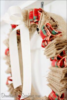 Christmas Plaid & Burlap